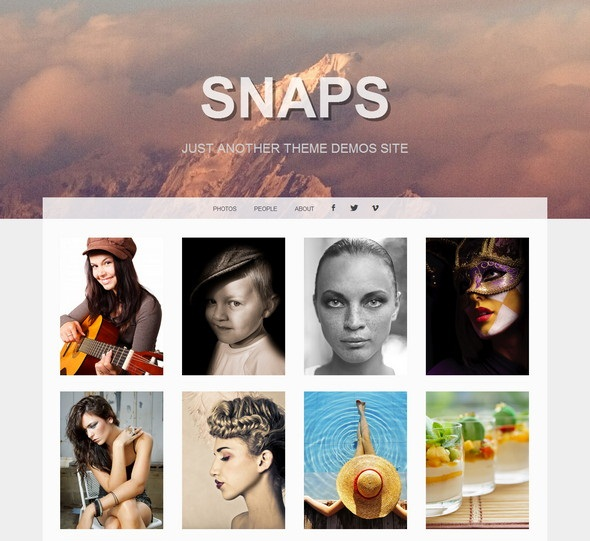 Snaps- free portfolio theme