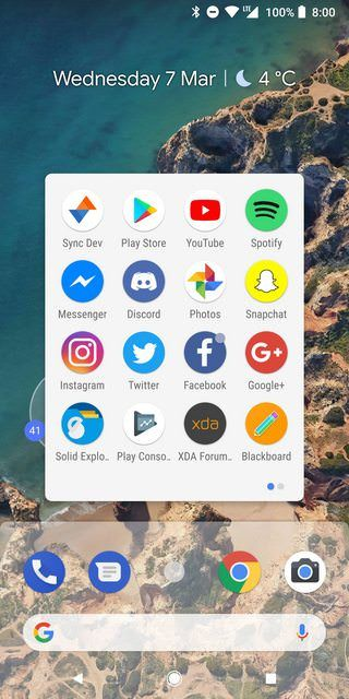 Descarga launcher de Android P