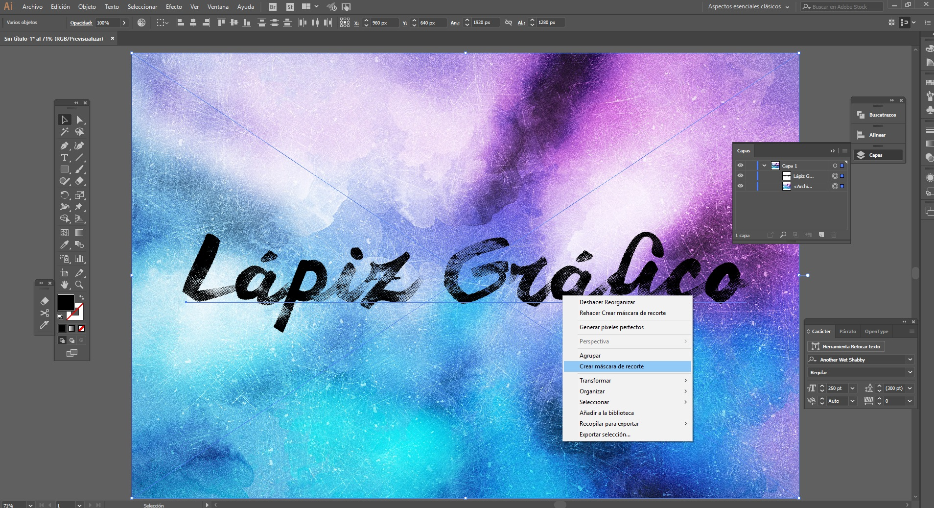 Cómo aplicar texturas en Illustrator