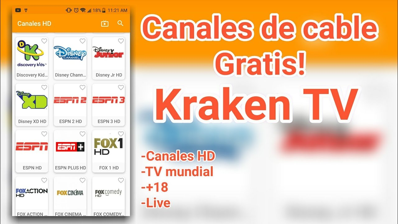 Kraken TV: Ver televisión Premium en Android (TV Gratis)