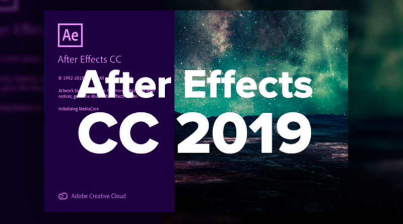 Descarga Adobe After Effects CC 2019
