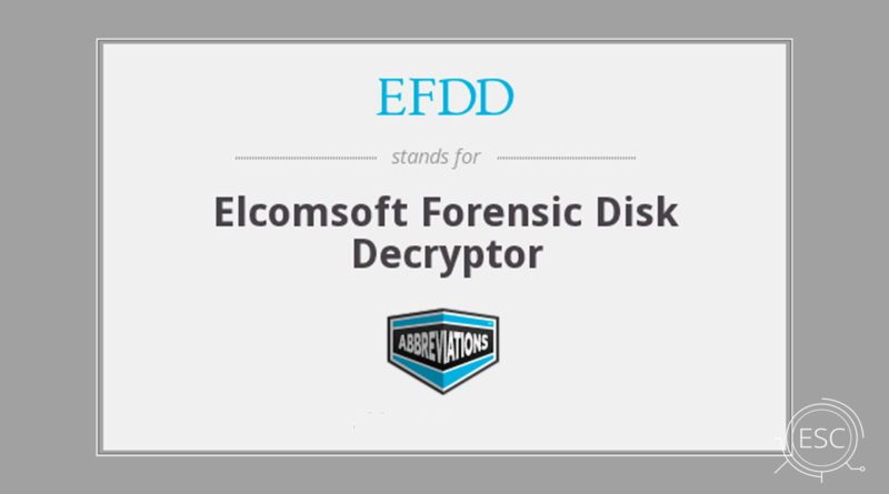 Forensic Disk Decryptor para Windows