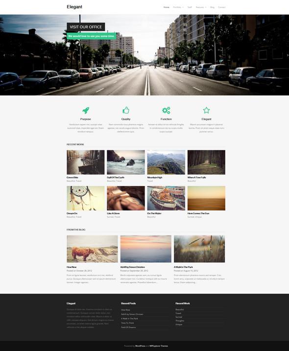 Elegant –Free Responsive Business Portfolio WordPress Theme